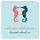 Kissing Seahorses Gift Tag