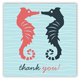 Kissing Seahorses Square Sticker