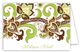 Lime Chocolate Yellow Modern Edwardian Folded Note Card