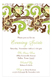 Lime Chocolate Yellow Modern Edwardian Invitation
