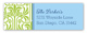 Lime Graphic Lily with Light Blue Flood Address Label