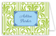 Lime Graphic Lily with Light Blue Flood Folded Note Card