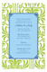 Lime Graphic Lily with Light Blue Flood Invitation