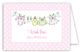 Little Girls Clothes Folded Note Card
