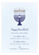 Menorah Lights Invitation