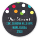 Merry and Bright Confetti Round Sticker