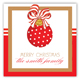 Merry Christmas Ornament Square Sticker
