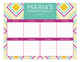 Neon Graphic Sides Calendar Pad