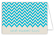Ocean Chevron Folded Note Card