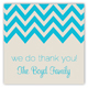 Ocean Chevron Square Sticker