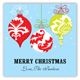 Ornaments on Blue Square Sticker