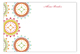 Ornate Wreaths Flat Note Card