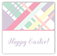 Pastel Plaid Square Sticker