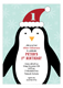 Penguin Winter Party 1st Birthday Invitations