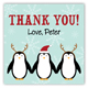 Penguin Birthday Square Sticker