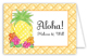 Pineapple Luau Folded Note Card