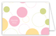 Pink Bubble Dots Folded Note Card
