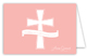 Pink Cross Banner Note Card