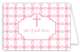 Pink Cross Tile Pattern Folded Note Card