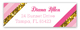Pink Glitter Stripe Address Label