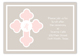 Pink Monogram Cross Enclosure Card