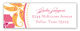 Pink Orange Garden Address Label