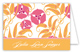 Pink Orange Garden Folded Note Card