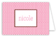 Pink Polka Dots Folded Note Card
