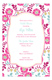 Pink Poppies Invitation