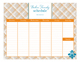 Plaid Damask Pop Calendar Pad