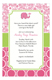 Preppy Elephant Girl Baby Shower Invites