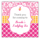 Preppy Lady Bug Square Sticker