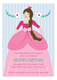 Princess Party Brunette Invitation