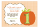 Orange Pumpkin Turning One Invitation