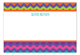 Purple Chevron Flat Note Card