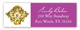 Purple Glitter Damask Address Label