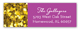 Purple Glitter Sixteen Address Label