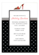 Red Shoe with Black Dots Invitation