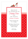 Red Shoe with Red Dots Invitation