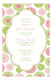 Retro Pink Green Flowers Girl Baby Shower