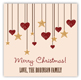 Rustic Christmas Square Sticker