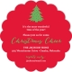 Scallop Christmas Tree Invitation