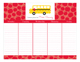 School Days Calendar Pad