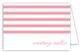 Simple Pink Stripes Folded Note Card