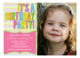 Stylish Chevron Photo Invitation