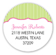 Stylish Spa Ooh La La Round Sticker