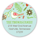 Sweet Aqua Floral Peace on Earth Round Sticker