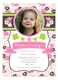 Sweet Pink Tea Time Photo Invitation