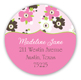 Sweet Pink Tea Time Round Sticker