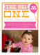 The Big One Photo 1st Birthday Invitation